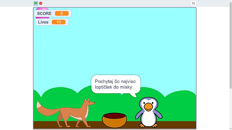 Začiatok priateľstva medzi líškou a tučniakom